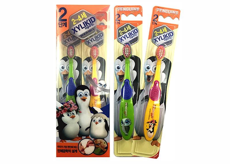 Xylikid Madagascar Penguin Step 2 Toothbrush(2-4 Years)
